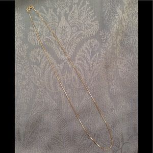"""18"""" 14KT Yellow Gold Box Link Chain NWOT"""